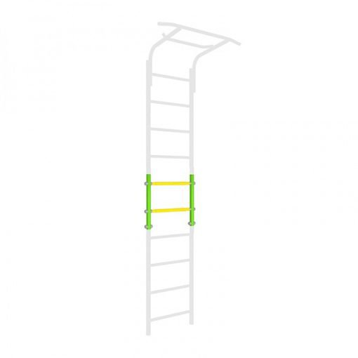 wallbars_extension_two_rungs_green