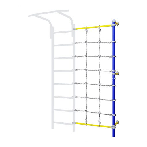 wall_mounted_pole_with_climbing_net_blue