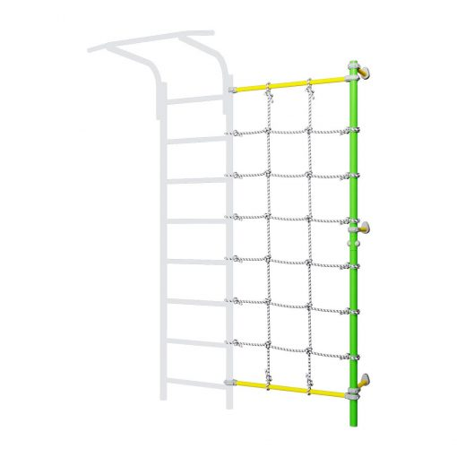 wall_mounted_pole_with_climbing_net_green
