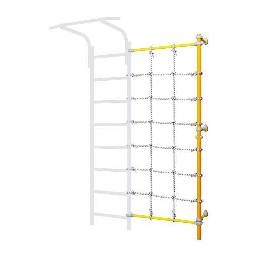 wall_mounted_pole_with_climbing_net_orange