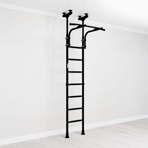gymnastic_wallbars_teenager_mounted_between_floor_and_ceiling_black