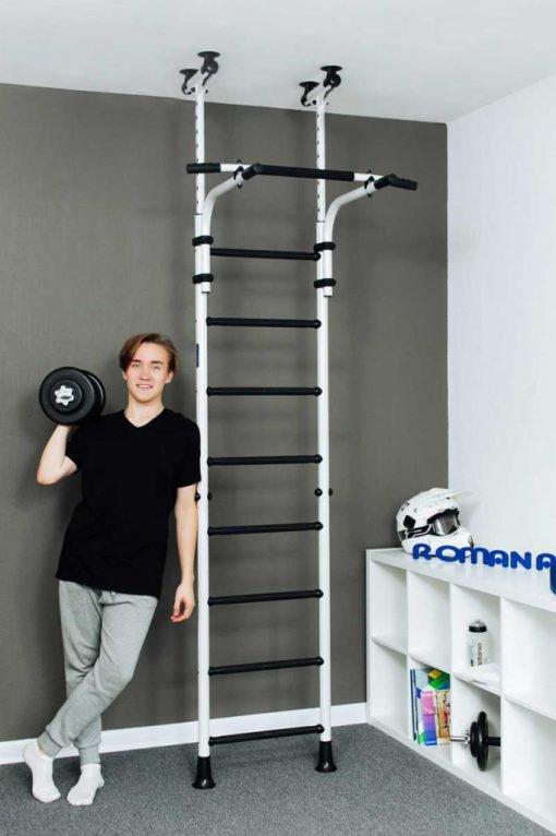 gymnastic_wallbars_teenager_mounted_between_floor_and_ceiling_photo