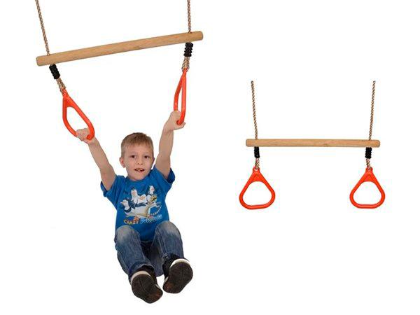 Kids Swing Rings Playground Trapeze Gym Rings Hanging Swing Equipment Gymnastics